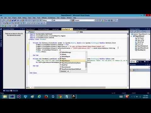 Reporting In Visual Studio 2010 ( VB.NET) Using Selection Formula