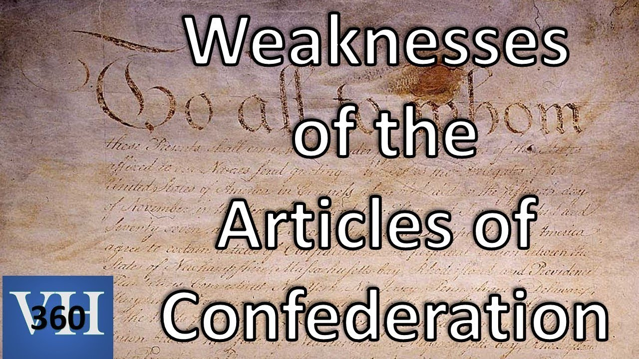 weaknesses of the confederation