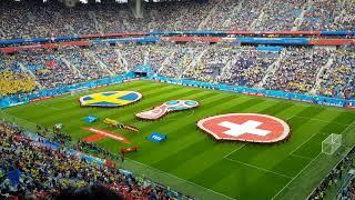 Sweden Vs. Switzerland National Anthems. R16 Russia 2018. St. Petersburg 3 july 2018