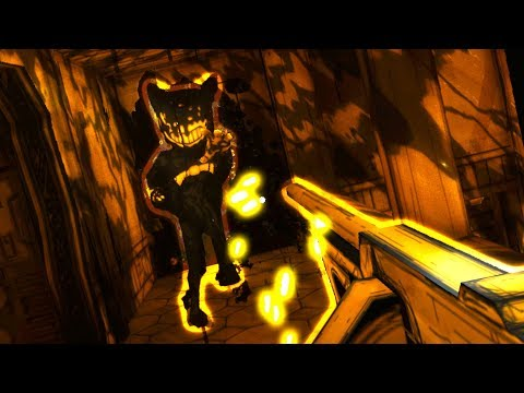 WE GOT THE TOMMY GUN!! WITH A SECRET ENDING!?! - Bendy and The Ink Machine Chapter 3