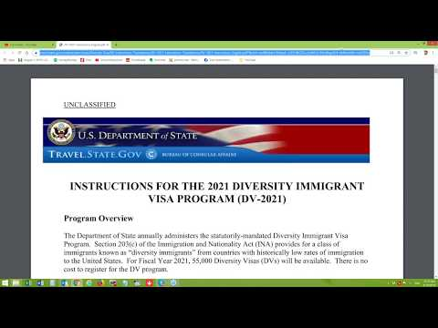 Есть инструкции - DV-2021 - Лотерея Грин Кард США