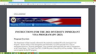 Є інструкції - DV-2021 - Лотерея Грін Кард США