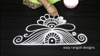 Doorstep rangoli and kolam designs for Diwali 2018 || Gadapa muggulu