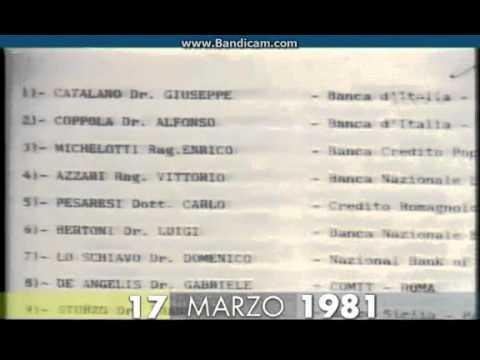 17 marzo 1981 la scoperta della loggia p2