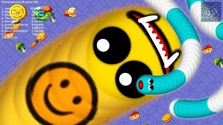 WormsZone.io 001 Slither Snake Top 1 / Zona Cacing.io Gameplay #146 screenshot 1