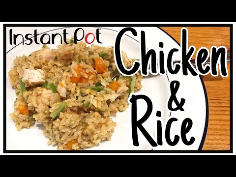 Instant Pot Chicken And Rice Recipe - EASY One Pot Meal