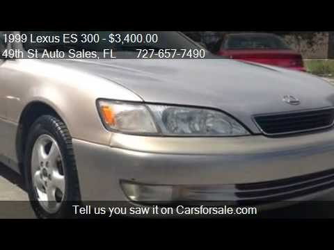 1999 lexus es 300 for sale in clearwater fl 33762 youtube. Black Bedroom Furniture Sets. Home Design Ideas