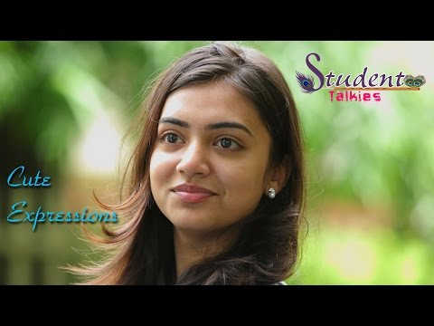 Nazriya Nazim cute Expressions/Ohm Shanthi Oshaana/Making video
