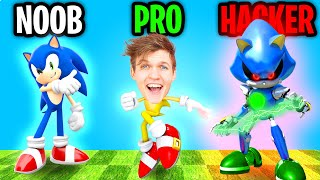 Can We Go NOOB vs PRO vs HACKER In SONIC DASH!? (SONIC DASH APP!)