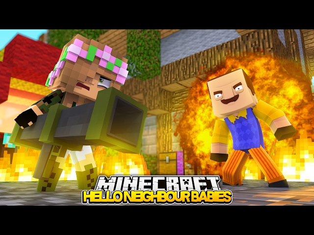 BABY LITTLE KELLY STARTS A WAR! | Minecraft HELLO BABY NEIGHBOUR! (Roleplay)