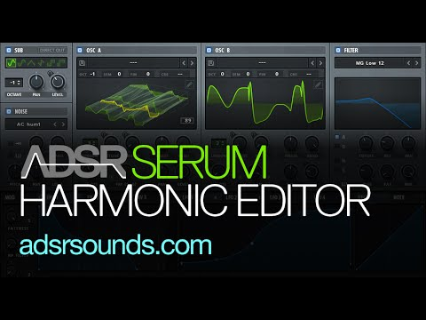 Serum Tutorial - Harmonic Editor