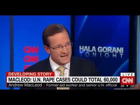 CNN Hala Gorani with Andrew MacLeod on Oxfam