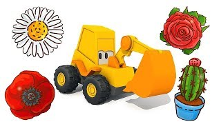 Excavator Max cartoon: Learn flowers names for kids - Educational cartoons for babies