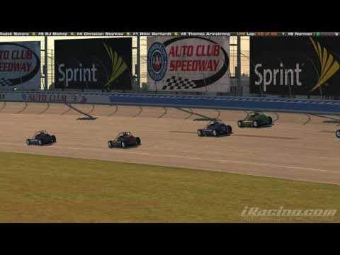 Final 3 laps of the Silver Crown Pack Racing @ Auto Club! (Sneak Peek)