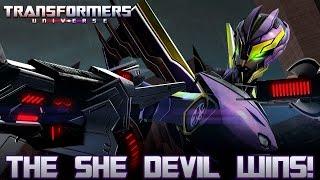 Transformers Universe - The She Devil Wins!