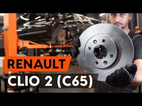 Как заменить передние тормозные диски наRENAULT CLIO 2 (C65)[ВИДЕОУРОК AUTODOC]