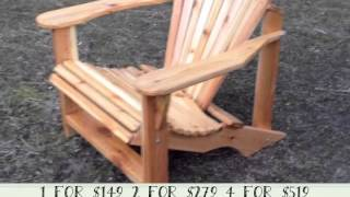 Varnished Cedar Adirondack Chair