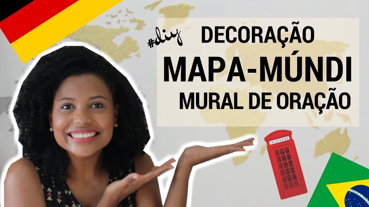 Diy mural decorativo mapa m ndi f cil com eva decora o - Mural mapa mundi ...