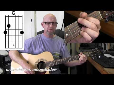 CAT STEVENS - MOONSHADOW  Acoustic guitar tutorial with chords and lyrics