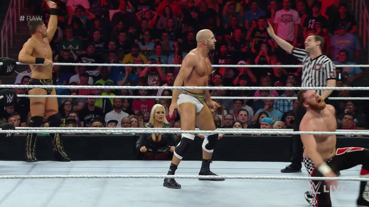 Cesaro & The Miz vs  Sami Zayn & Kevin Owens: Raw, May 16, 2016