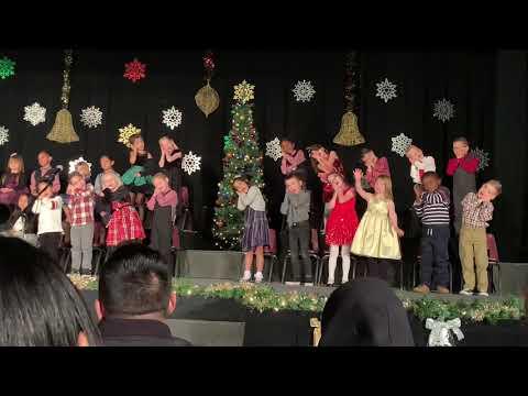 Mason and Chloe's Kindergarten Christmas Program 2018 at Van Avery Prep