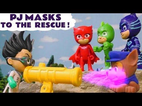 PJ Masks to the rescue vs Romeo - Toy story for kids TT4U