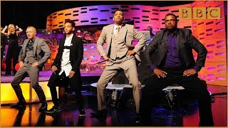 Repeat youtube video Will & Jaden Smith, DJ Jazzy Jeff and Alfonso Ribeiro Rap! - The Graham Norton Show - BBC One