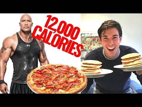 I Ate The Rock Dwayne Johnson's Epic Cheat Day - 10,000 Calorie Challenge - Man Vs Food Challenge from YouTube · Duration:  36 minutes 51 seconds