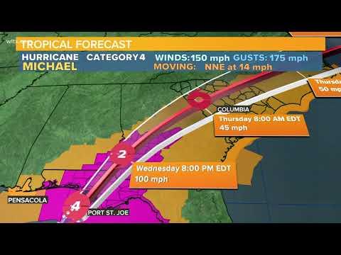 12PM update: Hurricane Michael winds at 150 MPH