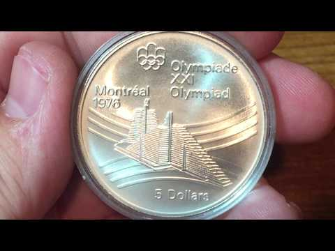 Canada 5 Dollars 1976 - Olympic Village (Large Silver Coin Of The Week Oct 10 2017)