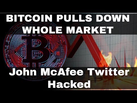 Crypto News | Bitcoin Struggles, Pulls Down Whole Market! John McAfee Hacked!
