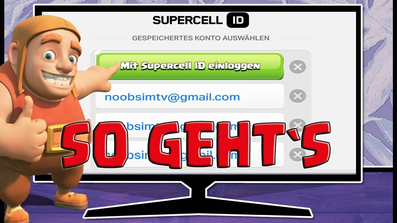 ⛔ SUPERCELL ID ⛔ SO EINFACH GEHTS - SUPERCELL ID TUTORIAL - CLASH OF CLANS SUPER  CELL ID - YouTube