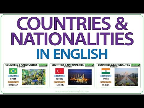 Countries & Nationalities In English