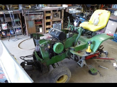 John Deere 140 progress and other repairs - YouTube