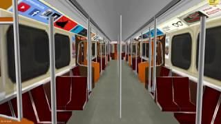 OpenBVE Toronto Line 1 Finch - Vaughan Metropolitan Centre H6 train **Arcade Mode**