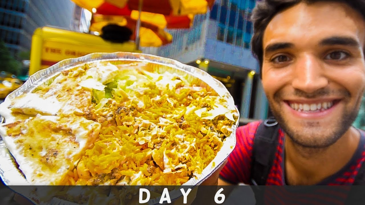 LIVING on STREET FOOD for 24 HOURS in NYC! (Day #6)