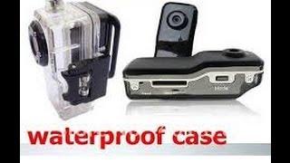 Teste a Noite Mini Câmera DV MD80 no Capacete