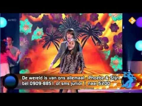 Junior Songfestival 2010 - Stijn & Phoebe - De wereld is van ons allemaal
