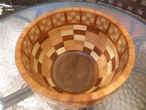 Woodturning With Naked Turner Segmented Fruit Bowl Part 1