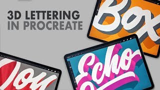 3 Ways to Create 3D Lettering in Procreate!
