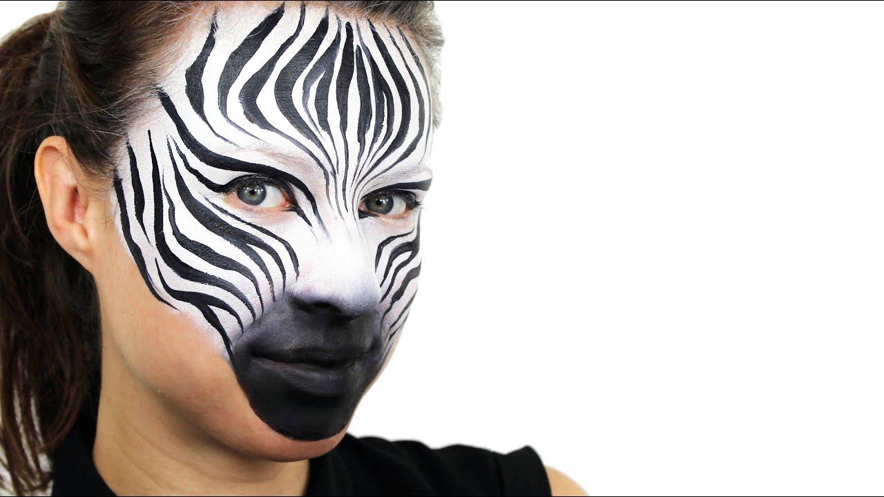 Zebra Face Paint For Kids