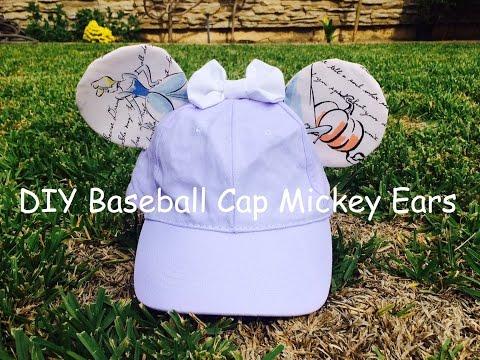 DIY Baseball Cap Mickey Ears