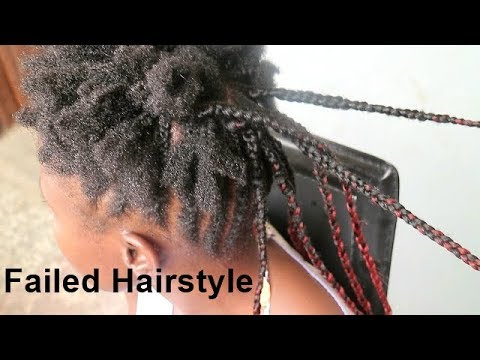 GETTING BRAIDS in NIGERIA GONE WRONG -NATURAL HAIR FAIL!!