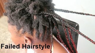 GETTING BRAIDS in NIGERIA GONE WRONG -NATURAL HAIR FAIL!!