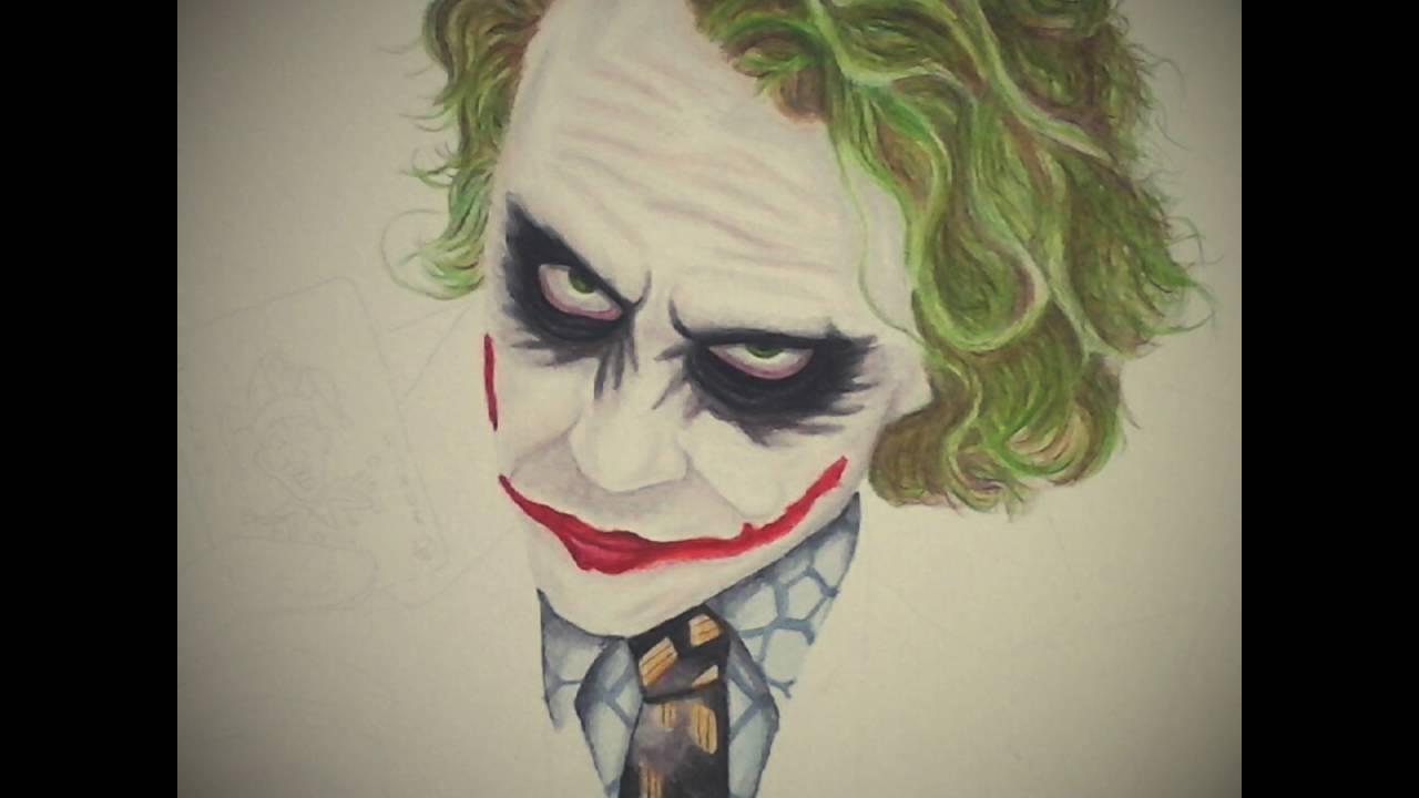Colour Pencil Drawing Of Heath Ledger S The Joker Youtube