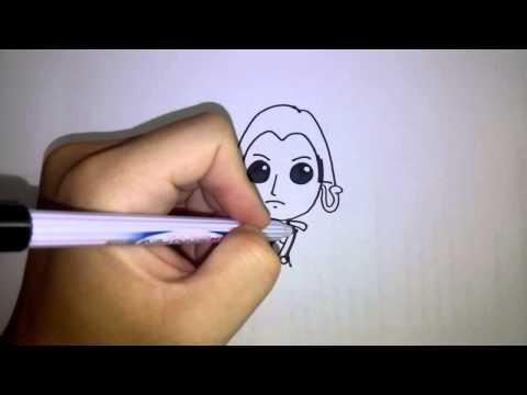 สอนวาดรูป การ์ตูน โบอา แฮนค๊อก วันพีช น่ารักๆ