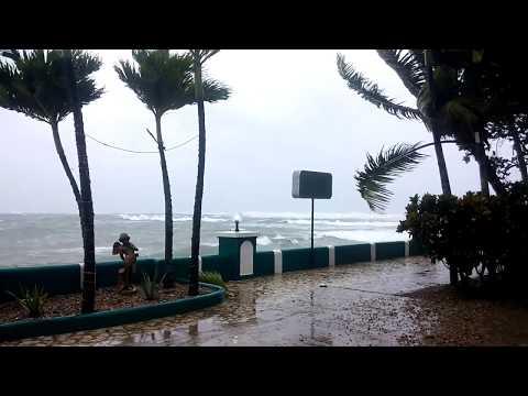 Hurricane IRMA Sept 7th 2017 22 to 45 knots Cabarete Beach Dominican Republic