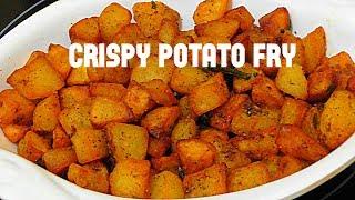 CRISPY POTATO FRY//aloo fry recipe /bangaldumpa vepudu in telugu/how to make quick & easy aloo fry