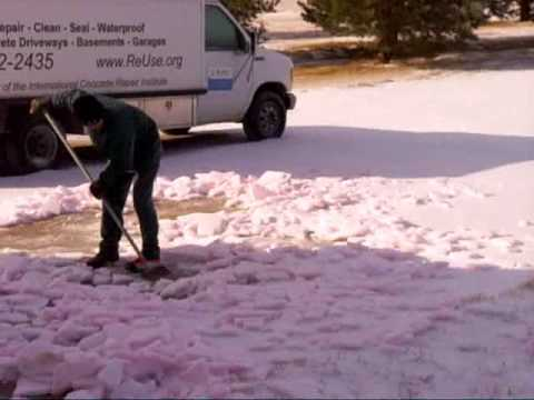 Removing Snow And Ice The Easy Waywww.SealGreen.com 800-997-3873
