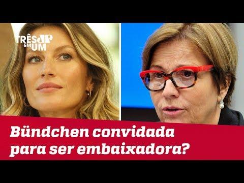 Ministra da Agricultura, Tereza Cristina, diz que chamará Gisele Bündchen para ser embaixadora